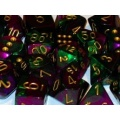 CHESSEX BITEWNE 16mm GEMINI GREEN-PURPLE/GOLD