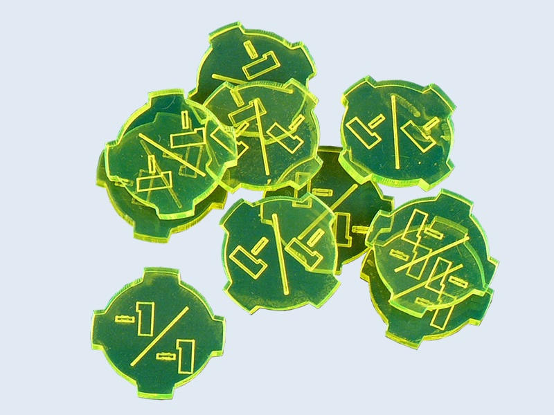 GAMING TOKENS -1/-1 GREEN (10)