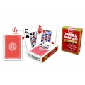 Karty 55 pokerowe 100% plastic red