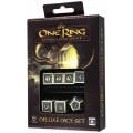 Komplet Kości Deluxe - The One Ring RPG - Beżowo-czarny