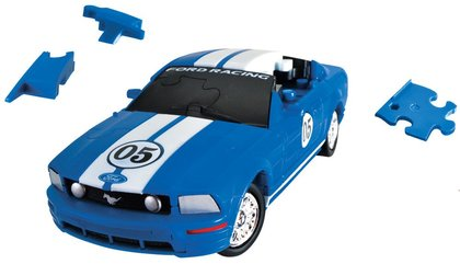 Puzzle 3D CARS - Ford Mustang - poziom 3/4